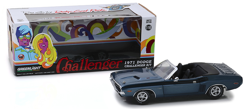 13528 - Greenlight Diecast 1971 Dodge Challenger R_T Convertible