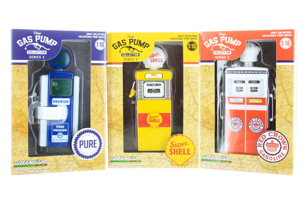 14030-SET-SP2 - Greenlight Diecast Vintage Gas Pump Collection Series 3 Three