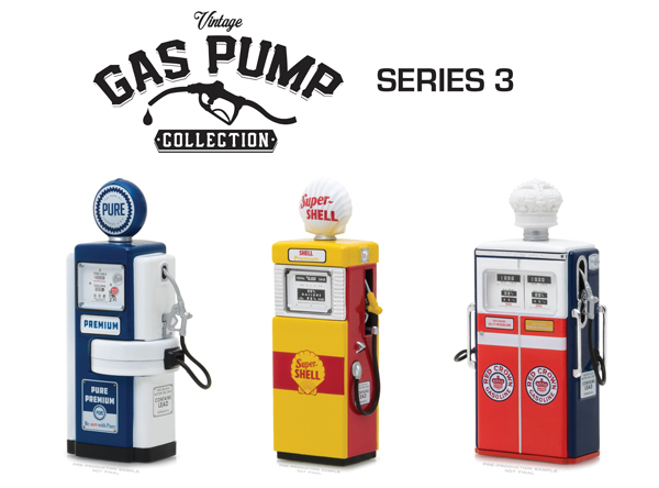 14030-SET - Greenlight Diecast Vintage Gas Pump Collection Series 3 Three