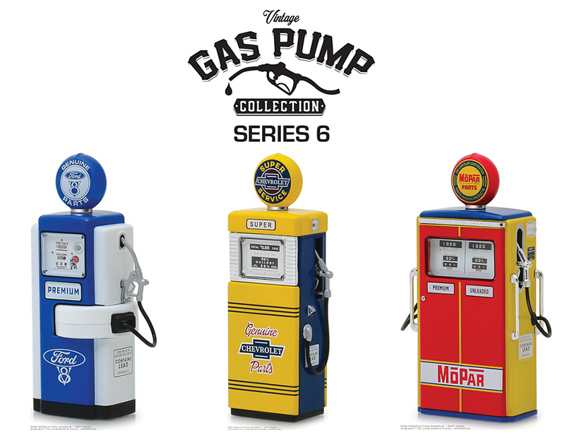 14060-CASE - Greenlight Diecast Vintage Gas Pump Collection Series 6 12