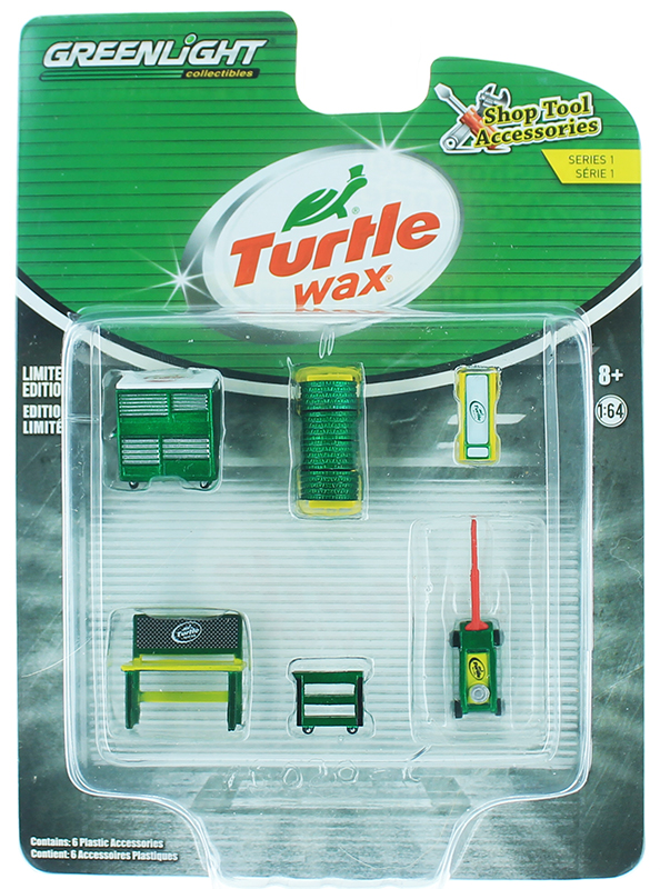 16020-C-SP - Greenlight Diecast Turtle Wax Shop Tool Accessories Pack SPECIAL