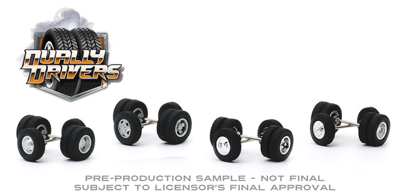 16050-A - Greenlight Diecast Dually Drivers Wheel Tire Pack 16