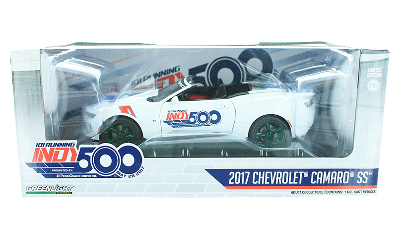18247-SP - Greenlight Diecast 2017 Chevrolet Camaro Convertible 500 Festival Event