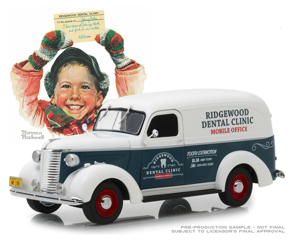 18249 - Greenlight Diecast Ridgewood Dental Clinic 1939 Chevrolet Panel Truck