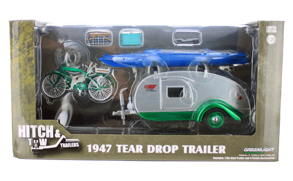 18440-A-SP - Greenlight Diecast Ken Skill Kustom Kamper Teardrop Trailer