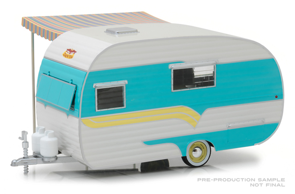 18450-A - Greenlight Diecast 1958 Catolac DeVille Travel Trailer 1 24