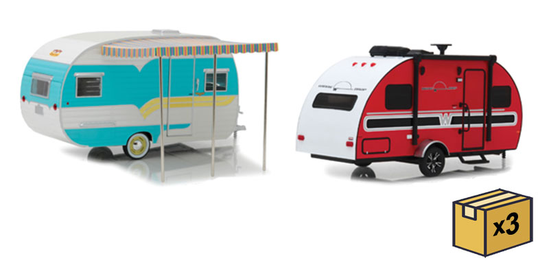 18450-CASE - Greenlight Diecast 1 24 Hitch and Tow Trailers Series