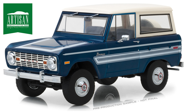 19035 - Greenlight Diecast 1976 Ford Bronco Explorer Package Artisan Collection