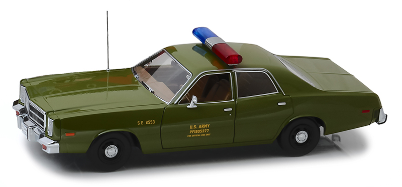 19053 - Greenlight Diecast US Army Military Police 1977 Plymouth Fury