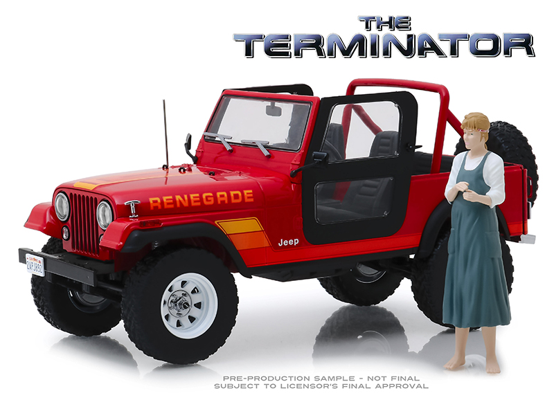 19060 - Greenlight Diecast Sarah Connors 1983 Jeep CJ 7 Renegade