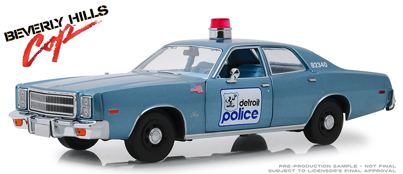 19069 - Greenlight Diecast Detroit Michigan Police 1977 Plymouth Fury Beverly