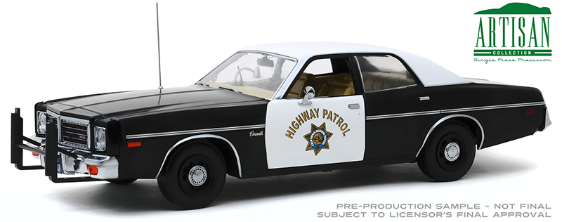 19075 - Greenlight Diecast California Highway Patrol 1975 Dodge Coronet Artisan