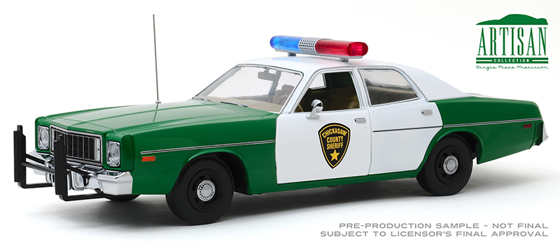 19076 - Greenlight Diecast Chickasaw County Mississippi Sheriff 1975 Plymouth Fury