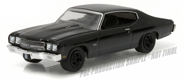 27860-B - Greenlight Diecast 1970 Chevrolet Chevelle SS Black Bandit Series