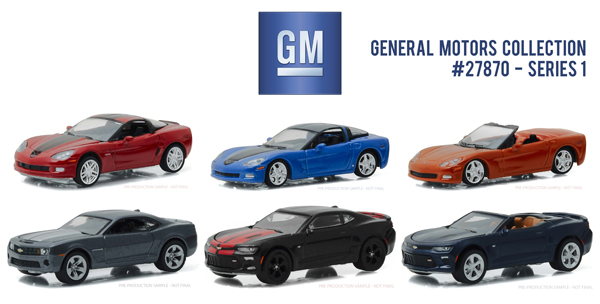27870-CASE - Greenlight Diecast General Motors Collection Series 1 Six Piece