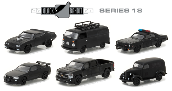 27930-CASE - Greenlight Diecast Black Bandit Series 18 6 Piece Set