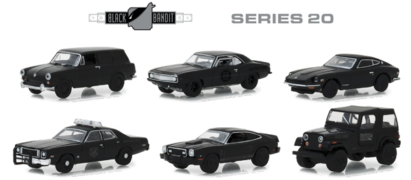 27960-CASE - Greenlight Diecast Black Bandit Series 20 6 Piece Case