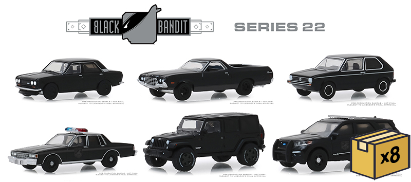 28010-MASTER - Greenlight Diecast Black Bandit Series 22 48 Piece Assortment