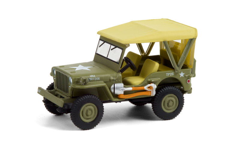 28060-A - Greenlight Diecast Jeep 80th Anniversary 1940 Willys MB Jeep