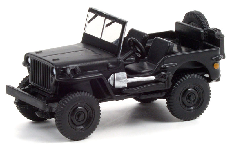 28070-A - Greenlight Diecast 1942 Willys MB Jeep Black Bandit Series