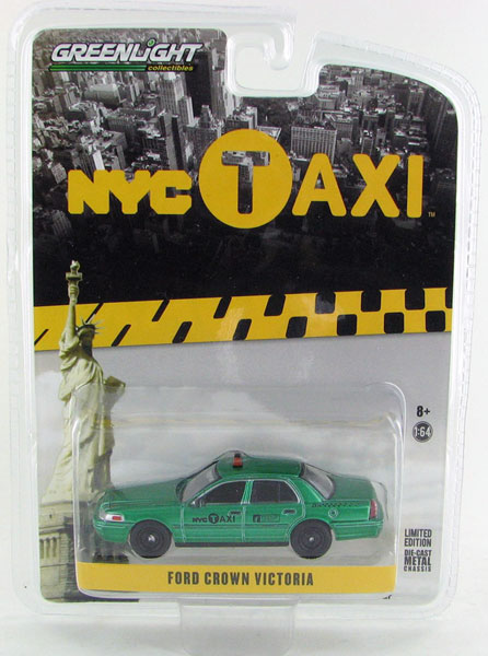 29773-SP - Greenlight Diecast NYC Taxi 2011 Ford Crown Victoria GREEN