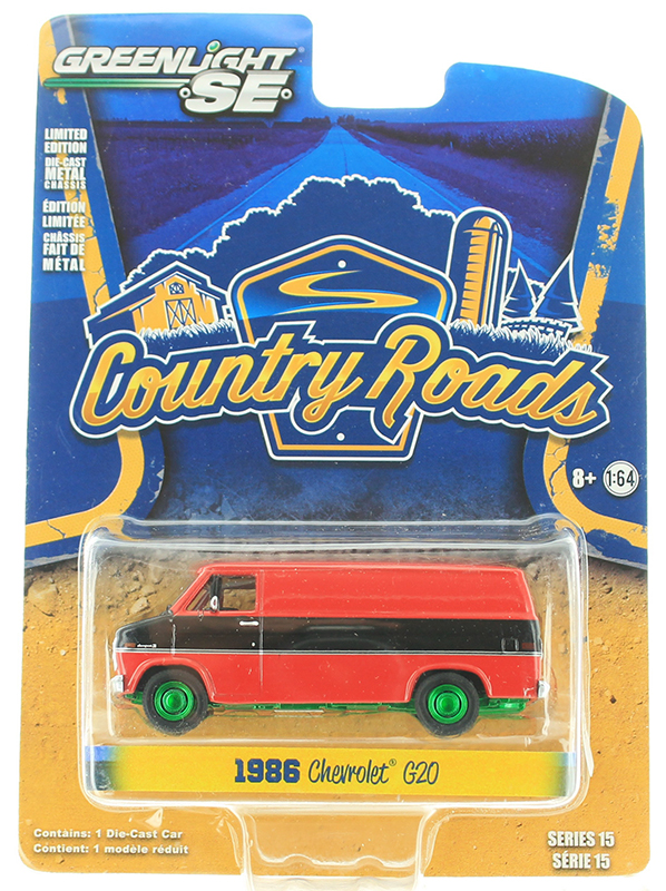 29850-C-SP - Greenlight Diecast 1986 Chevrolet G20 Van