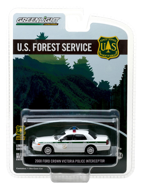29879 - Greenlight Diecast USFS 2008 Ford Crown Victoria Police Interceptor