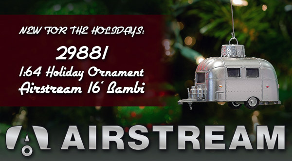 29881 - Greenlight Diecast Airstream 16 Bambi Holiday Ornament Hobby Exclusive