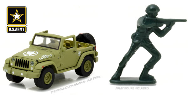 29884 - Greenlight Diecast US Army 2016 Jeep Wrangler Hobby Exclusive