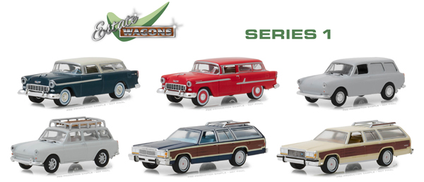 29910-CASE - Greenlight Diecast Estate Wagons Series 1 6 Piece Case