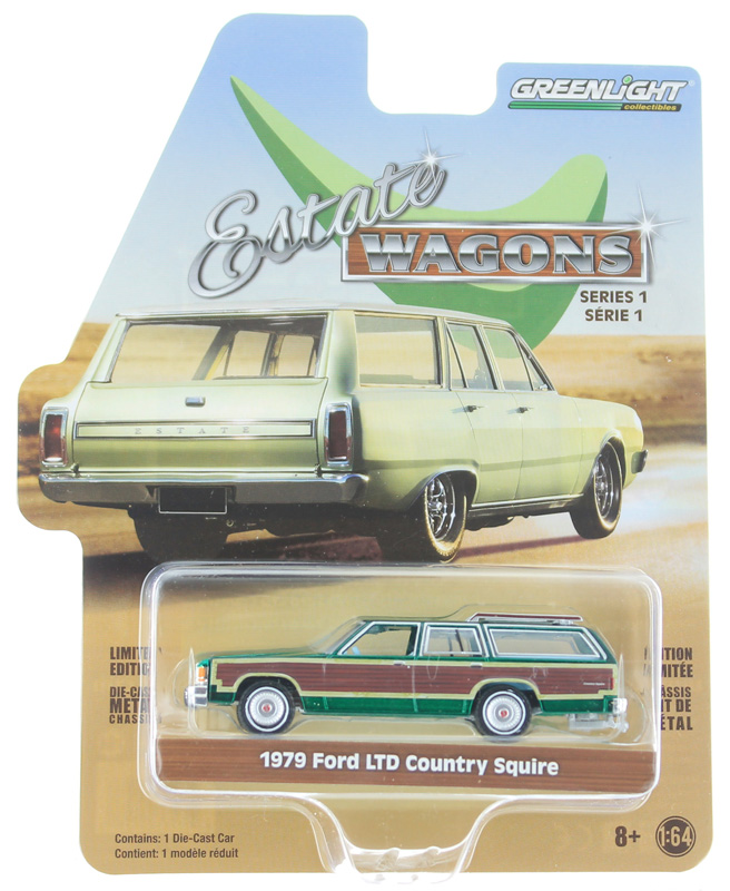 29910-E-SP - Greenlight Diecast 1979 Ford LTD Country Squire SPECIAL GREEN