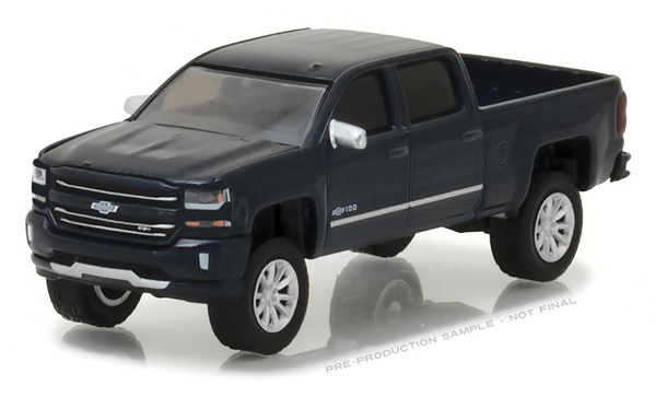 29917 - Greenlight Diecast 2018 Chevrolet Centennial Silverado Hobby Exclusive Chrome