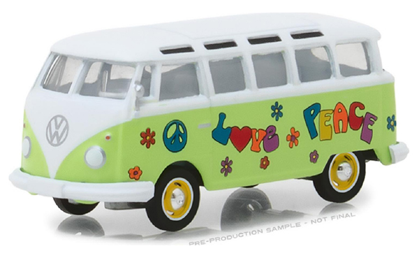 29920-C - Greenlight Diecast 1964 Volkswagen Samba Bus Hippie Peace and