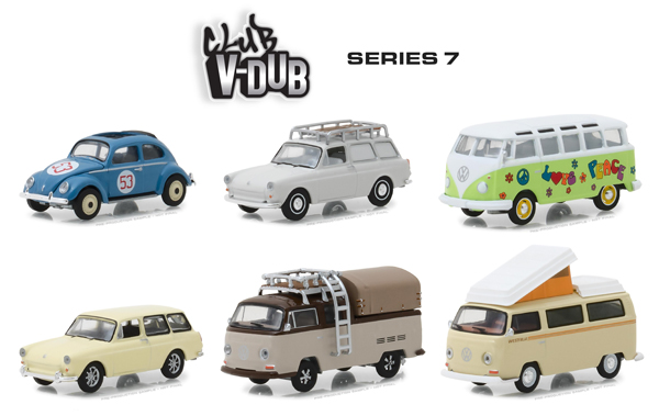 29920-CASE - Greenlight Diecast Club V Dub Series 7 6 Piece