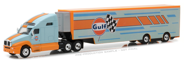 29929 - Greenlight Diecast Gulf Oil Racing 2017 Kenworth T2000 Transporter