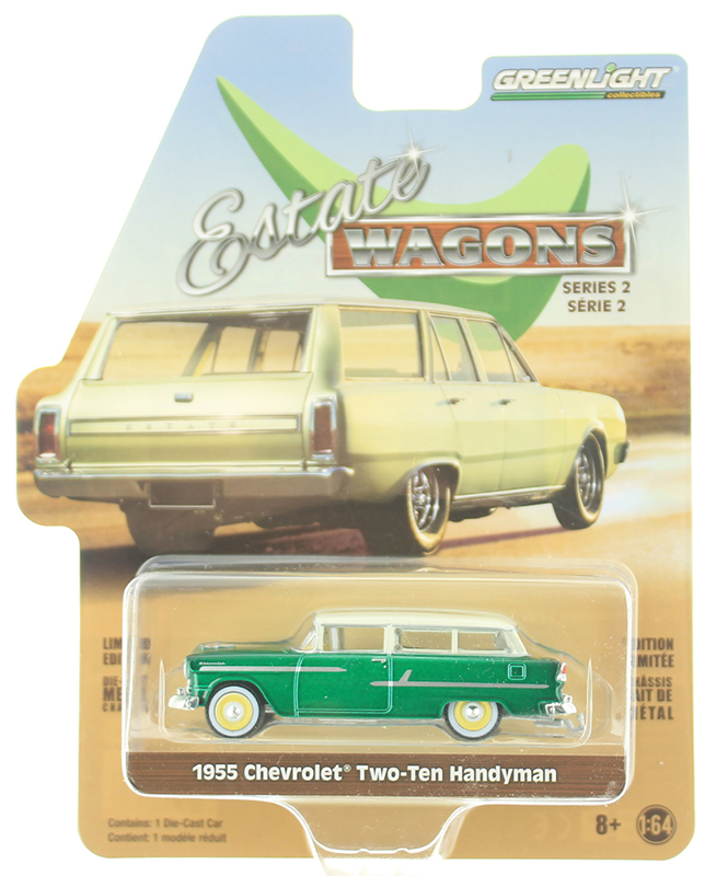 29930-A-SP - Greenlight Diecast 1955 Chevrolet Two Ten Handyman SPECIAL GREEN