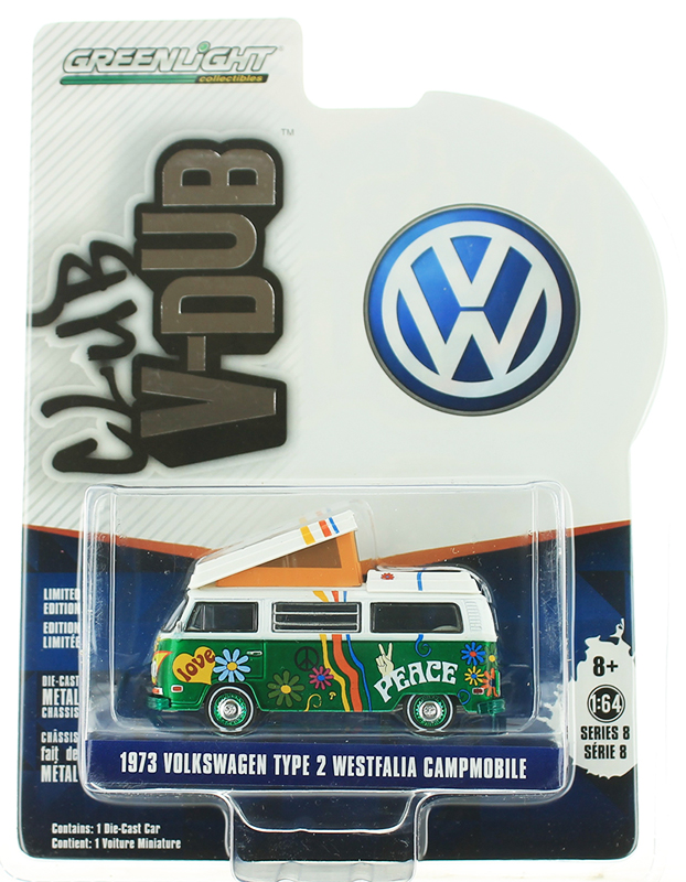 29940-C-SP - Greenlight Diecast 1973 Volkswagen Type 2 Westfalia Campmobile Hippie