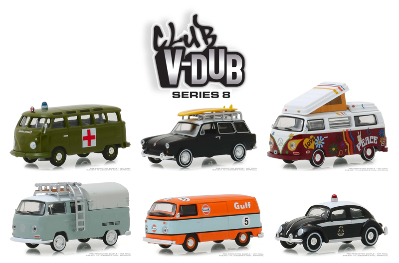 29940-CASE - Greenlight Diecast Club Vee Dub Series 8 6 Piece