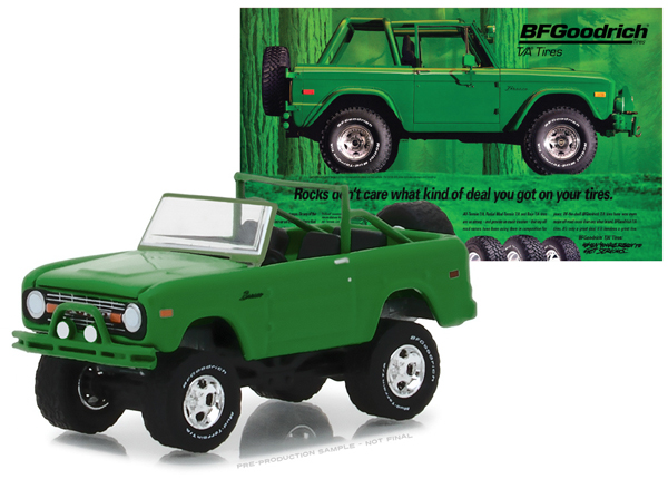 29942 - Greenlight Diecast 1971 Ford Bronco Take Control BF Goodrich