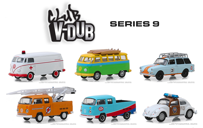 29960-CASE - Greenlight Diecast Club Vee Dub Series 9 6 Piece
