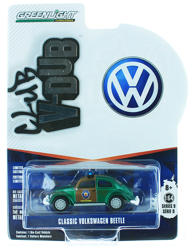 29960-F-SP - Greenlight Diecast Chiapas Mexico Traffic Police Classic Volkswagen Beetle