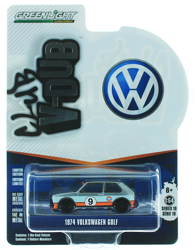 29980-C-SP - Greenlight Diecast Gulf Oil 9 1974 Volkswagen Golf SPECIAL