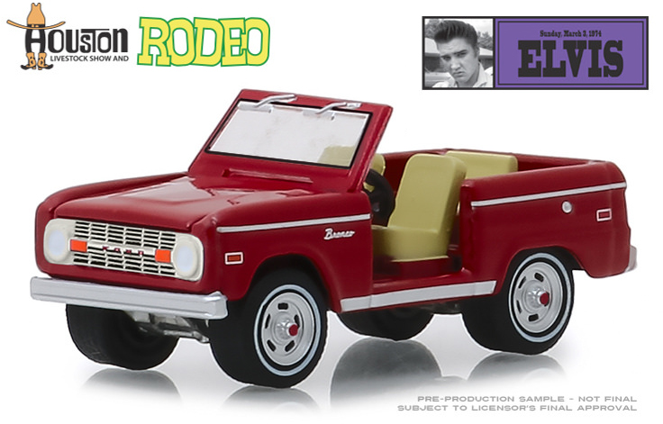29984 - Greenlight Diecast 1970s Ford Bronco 1974 Houston Livestock Show
