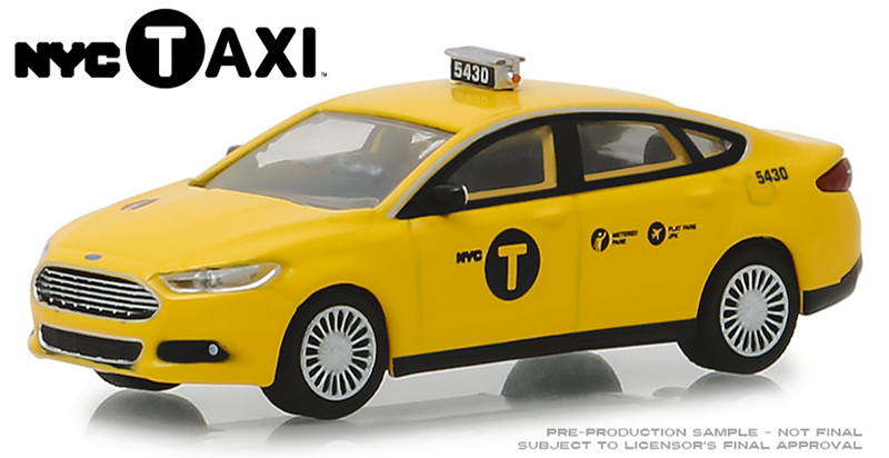 30011 - Greenlight Diecast 2013 Ford Fusion NYC Taxi