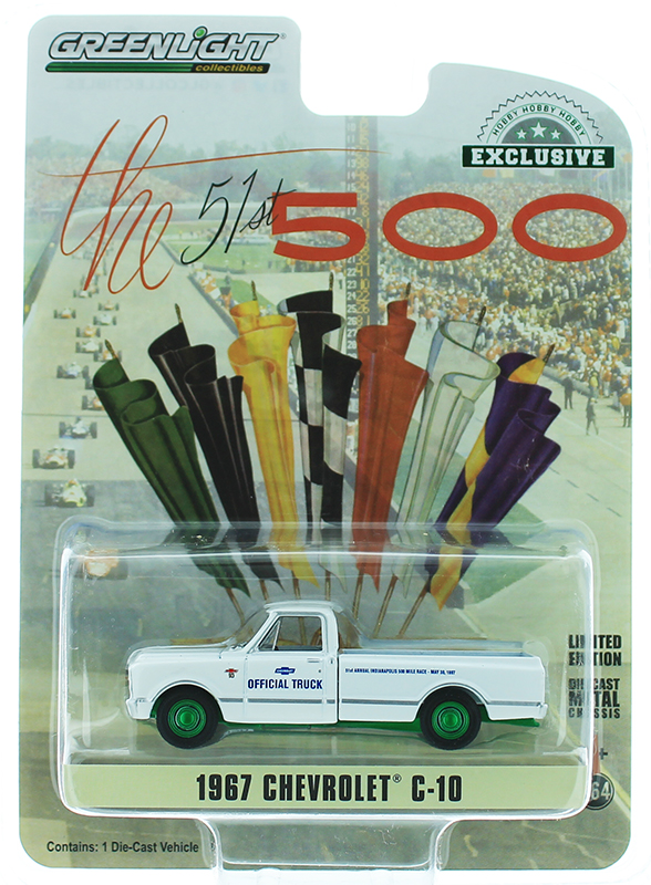 30029-SP - Greenlight Diecast 1967 Chevrolet C 10 51st Annual Indianapolis