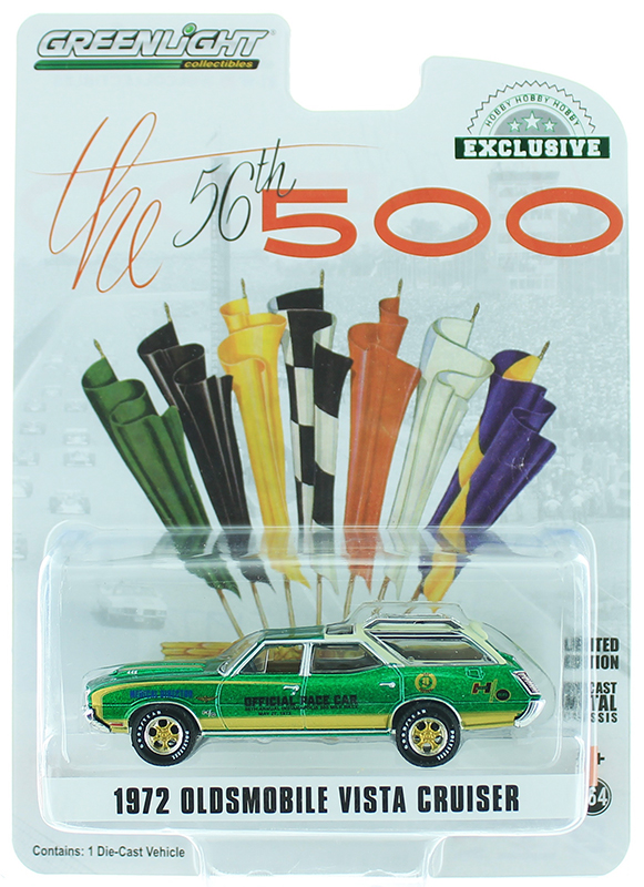 30050-SP - Greenlight Diecast 1972 Oldsmobile Vista Cruiser 56th Annual Indianapolis