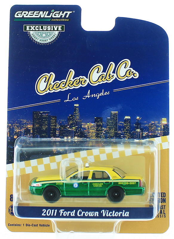 30055-SP - Greenlight Diecast Checker Cab Company 2011 Ford Crown Victoria