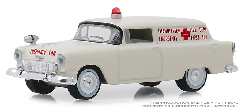 30071 - Greenlight Diecast Channelview Texas Fire Department 1955 Chevrolet Sedan