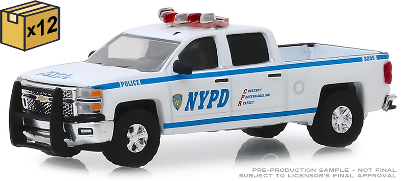 30093-CASE - Greenlight Diecast New York City Police Department NYPD 2015