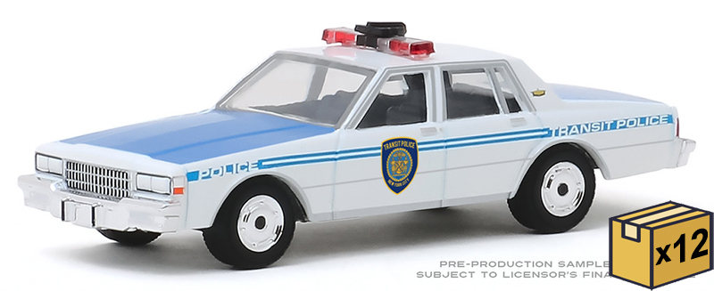 30100-CASE - Greenlight Diecast NYC Transit Police 1989 Chevrolet Caprice New